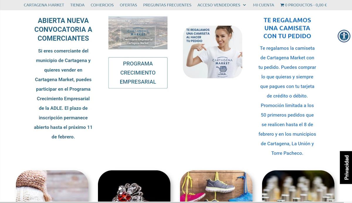 Nueva conovocatoria de Cartagena Market para incorporar 60 comercios