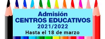 Arranca el proceso de admisión de alumnos en centros educativos públicos y privados concertados para el curso 2021-2022