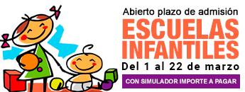 Escuelas Infantiles. Plazo de Admisión 2021/2022