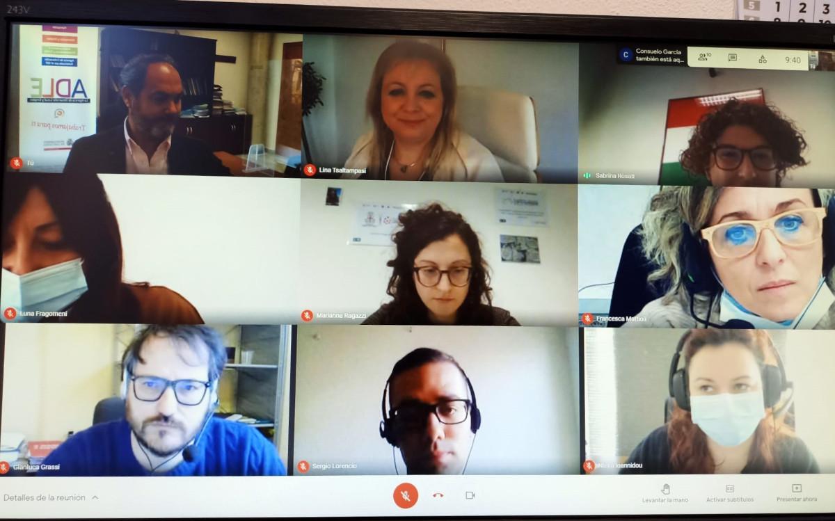 La ADLE en la reunión por videoconferencia sobre le proyecto SocialNet