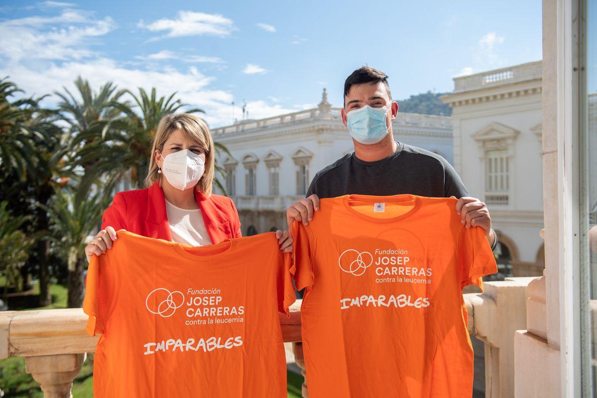 Juancho le ha presentado a Noelia Arroyo el reto 400 kilómetros contra la leucemia