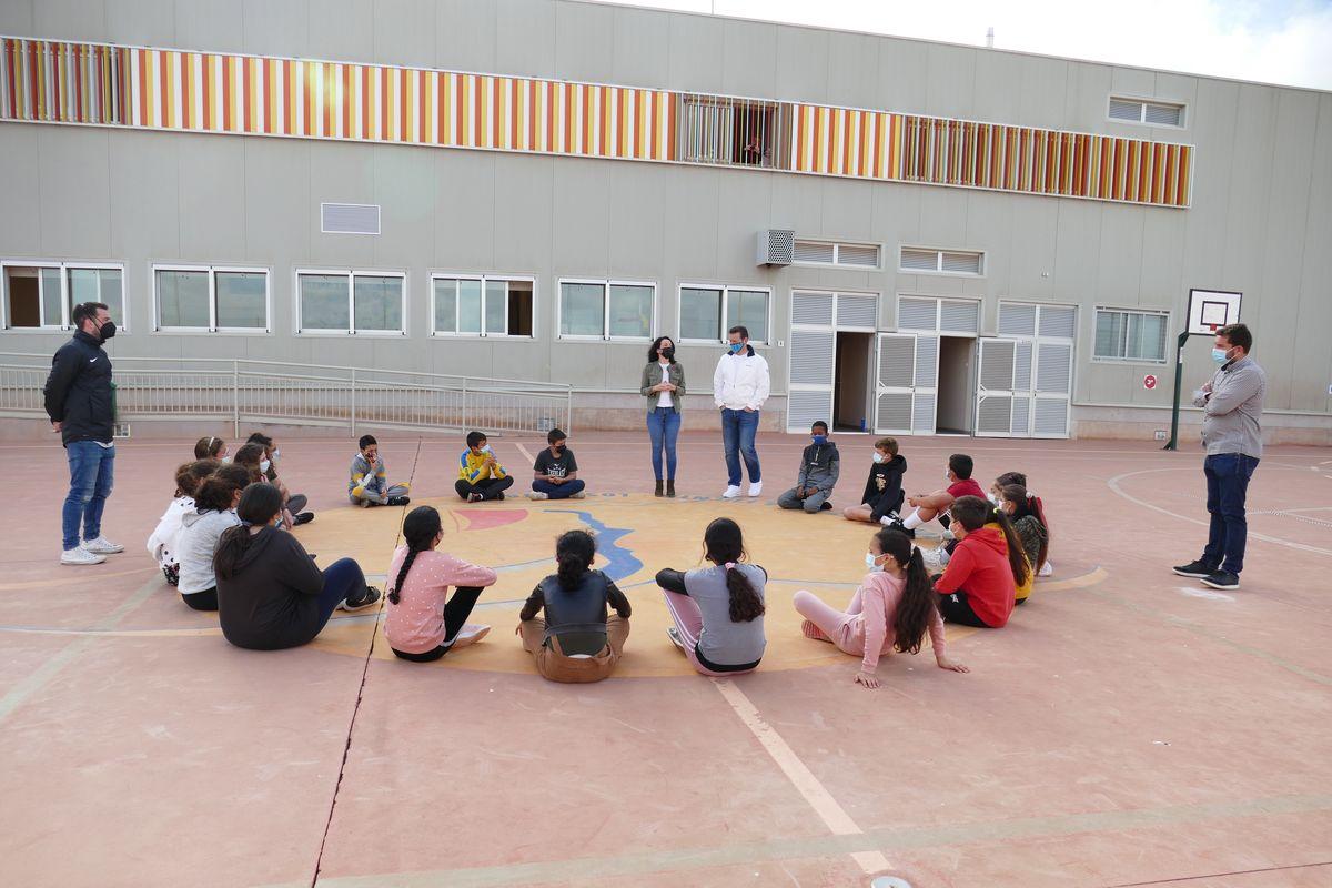 Visita de Irene Ruiz al colegio Félix Rodríguez de la Fuente