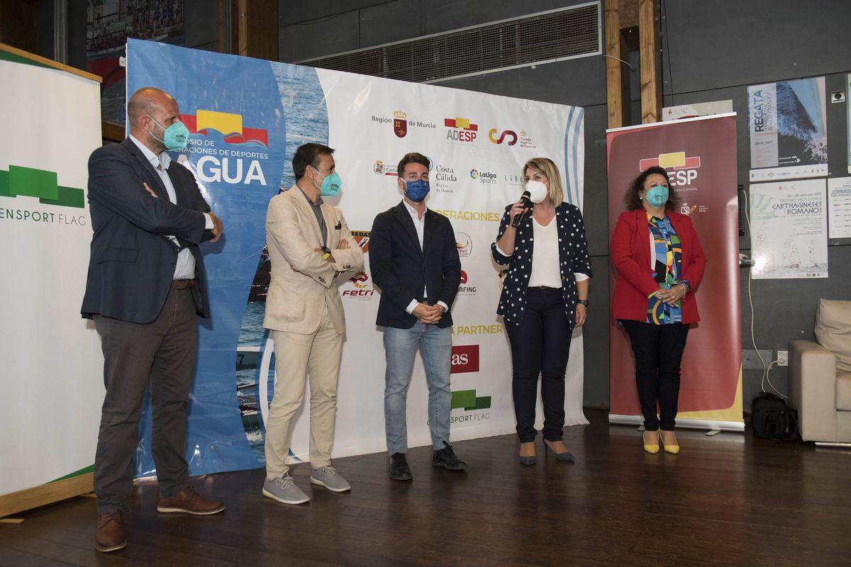 Recepción de los participantes del Simposio de Federaciones de Deportes de Agua