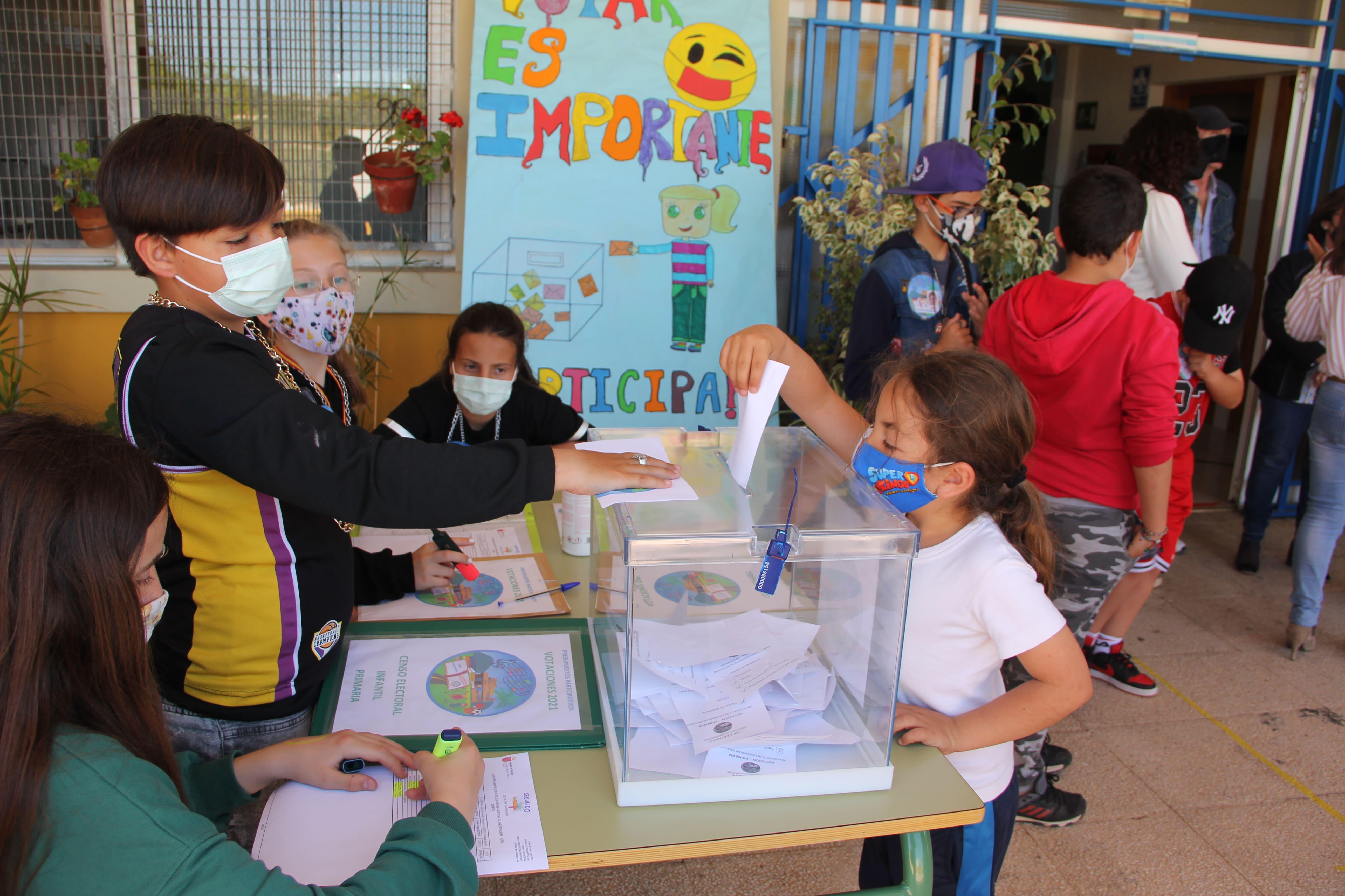 Votaciones en centros educativos de Cartagena Presupuestos Participativos 2021