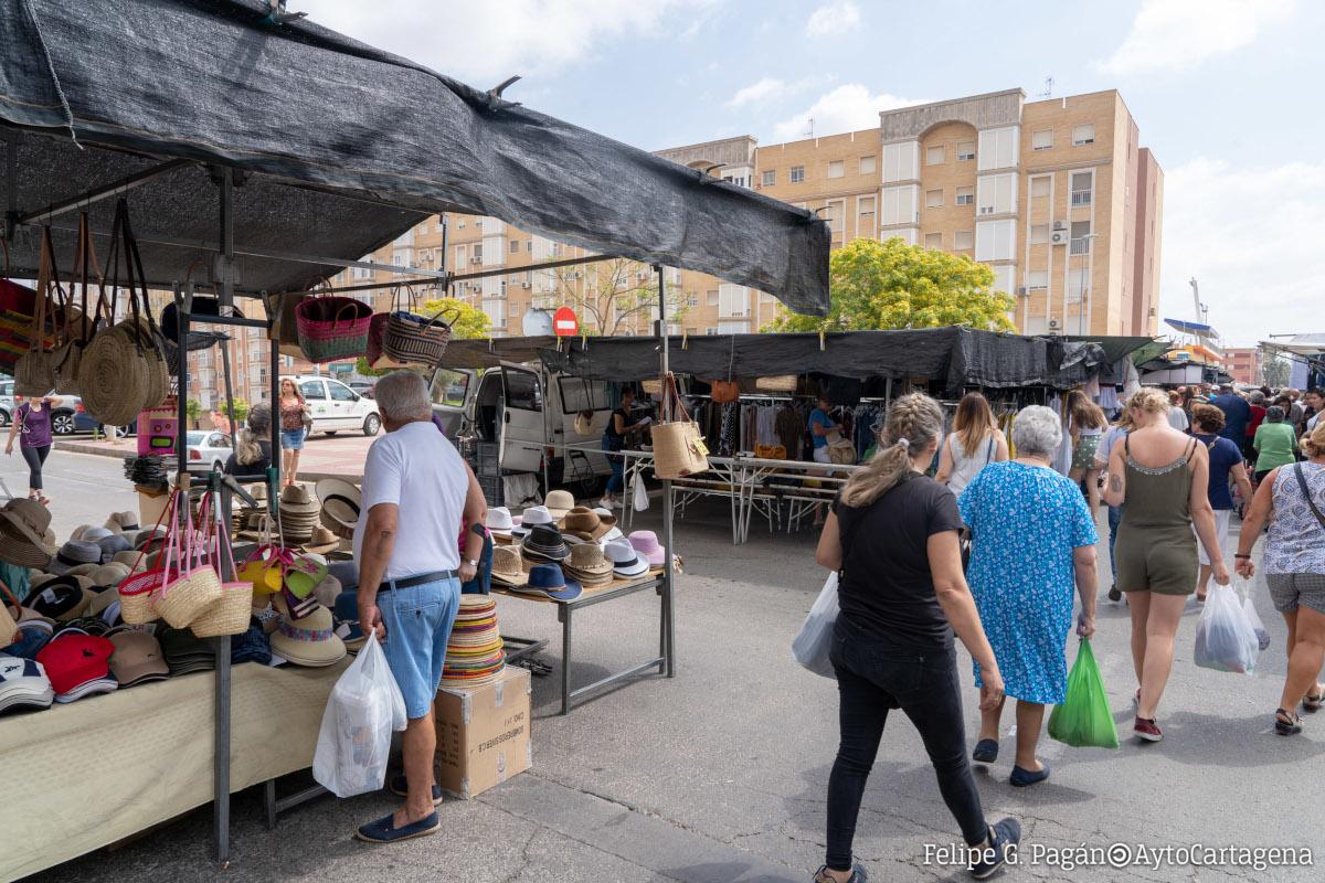 Imagen de archivo del mercadillo de Nueva Cartagena