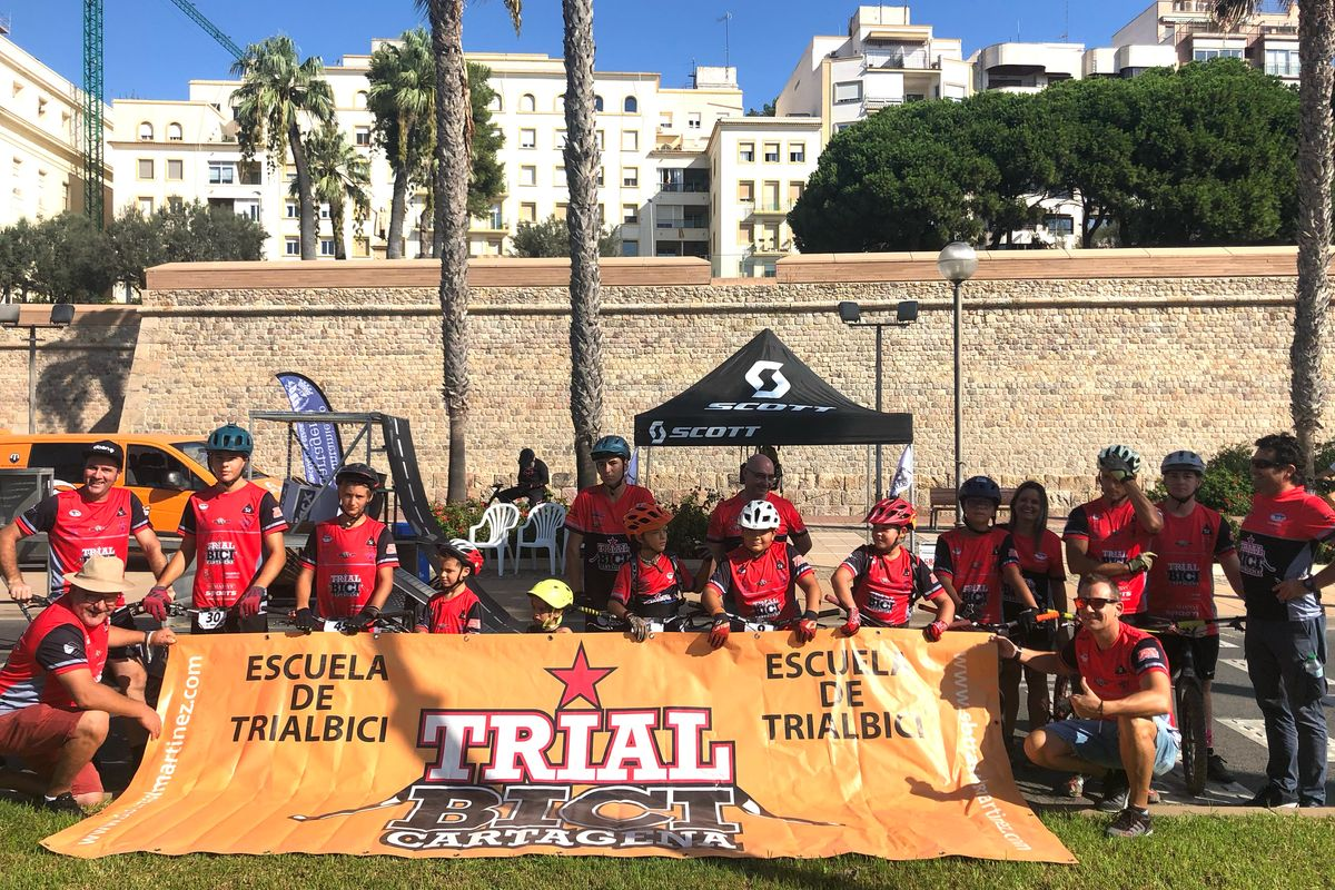 La escuela de Trial participó en la Semana de la Movilidad.