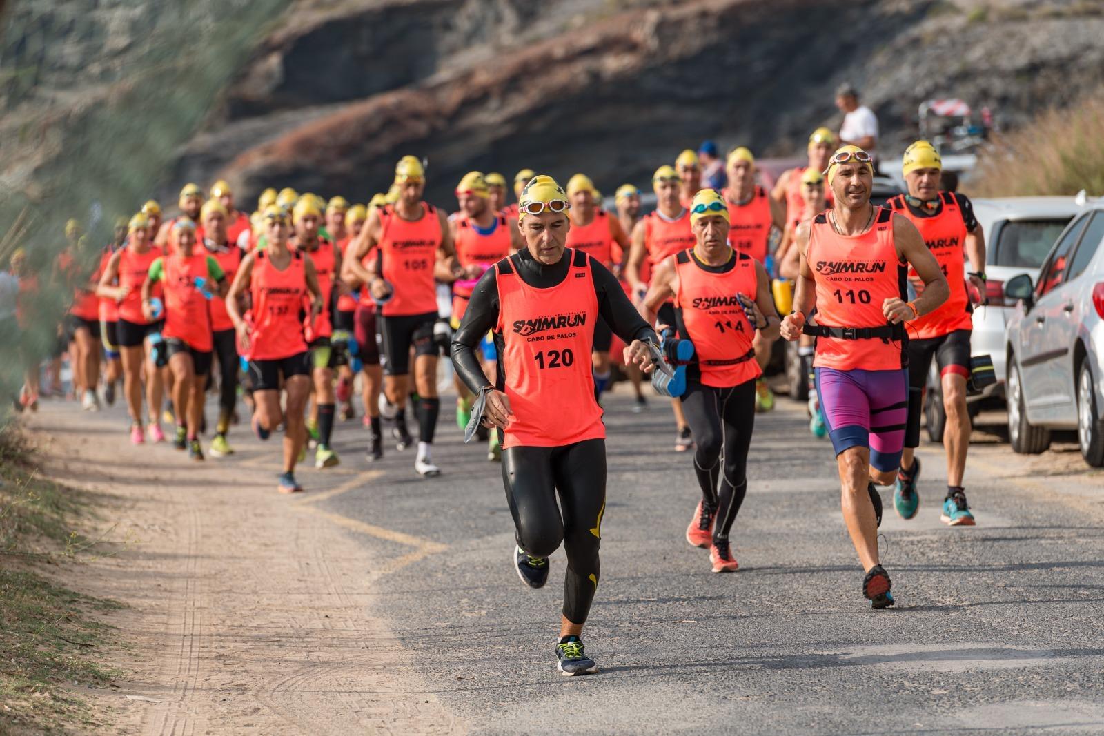 prueba deportiva en Cabo de Palos.