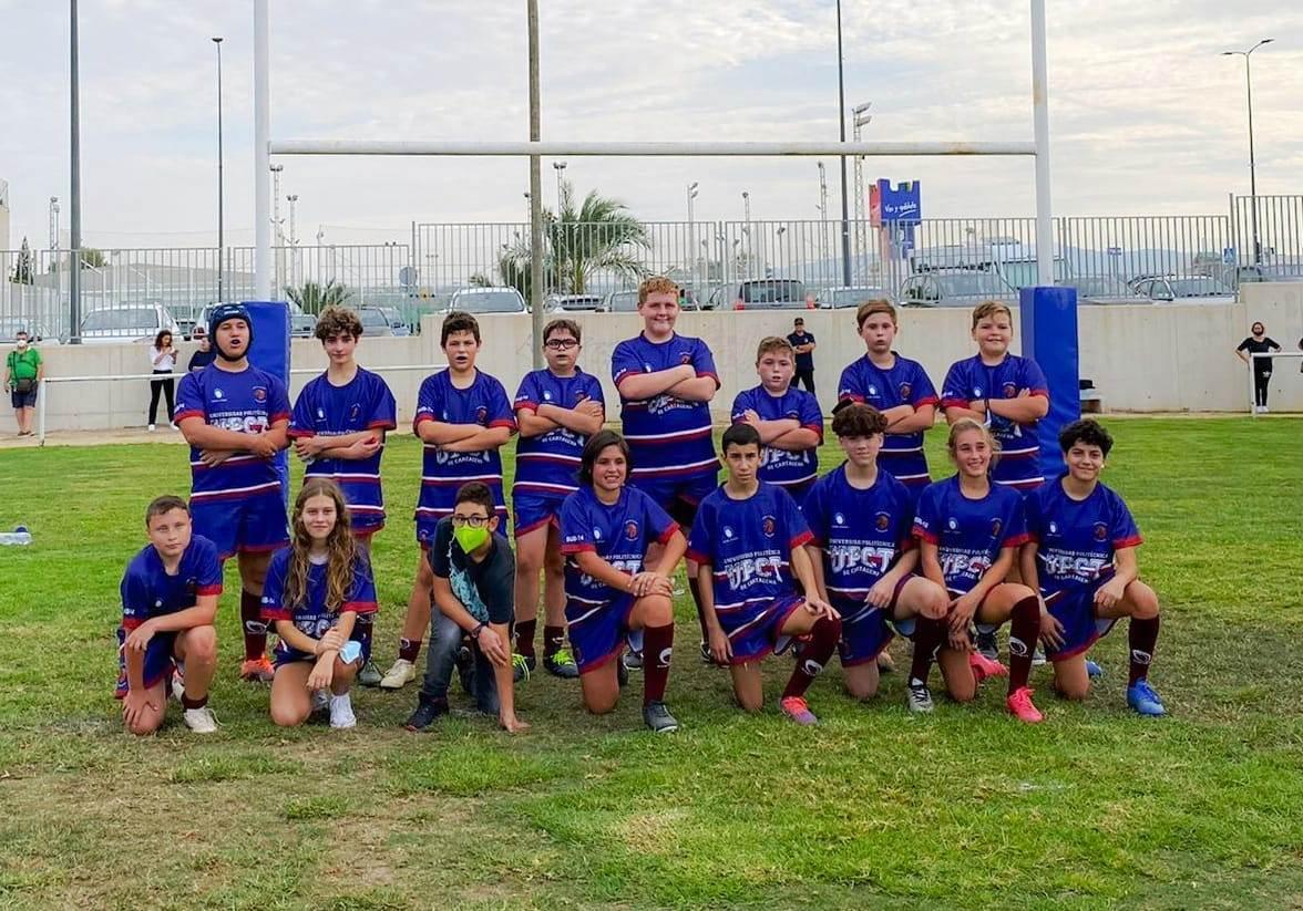 Los equipos sub14 y sub16 del Club Rugby Universitario Cartagena rinden a buen nivel en Las Torres de Cotillas