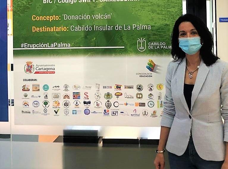 La Comunidad Educativa de Cartagena se vuelca con los afectados por el volcán de La Palma