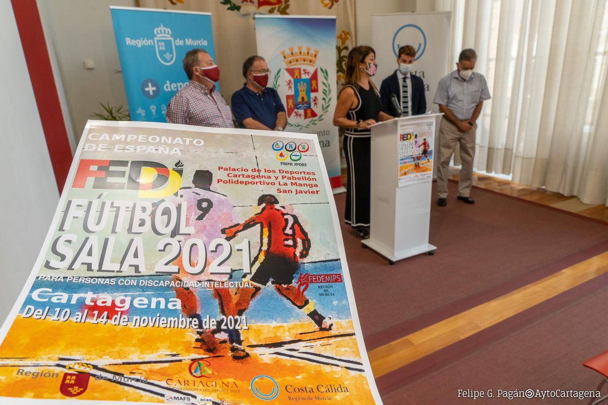 Presentación del Campeonato de España de Futbol Sala para personas con discapacidad Intelectual