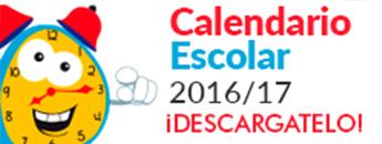 Calendario Escolar 2016/17. DESCÁRGATE EL RECORTABLE!!!. Documento PDF - 1,08 MB. Se abre en ventana nueva