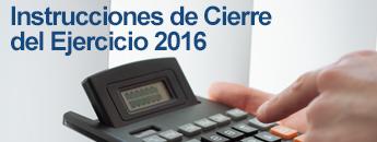 Instrucciones Cierre Contable 2016. Documento PDF - 511,74 KB. Se abre en ventana nueva