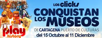 Los Clicks de Playmobil conquistan los museos de Cartagena Puerto de Culturas