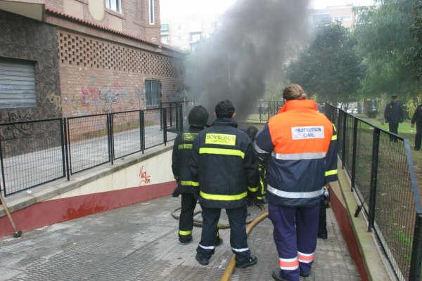 Colaboración en un incendio