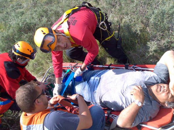 Rescate a excursionistas