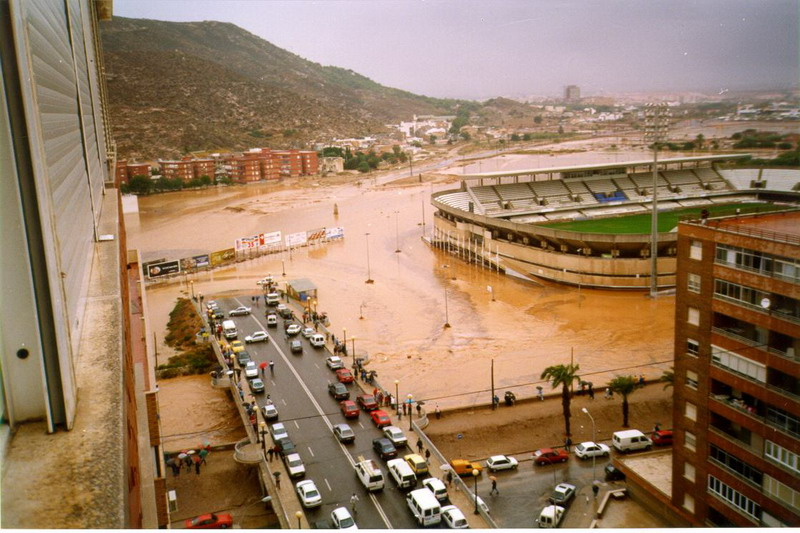 Inundación Estadio Cartagonova