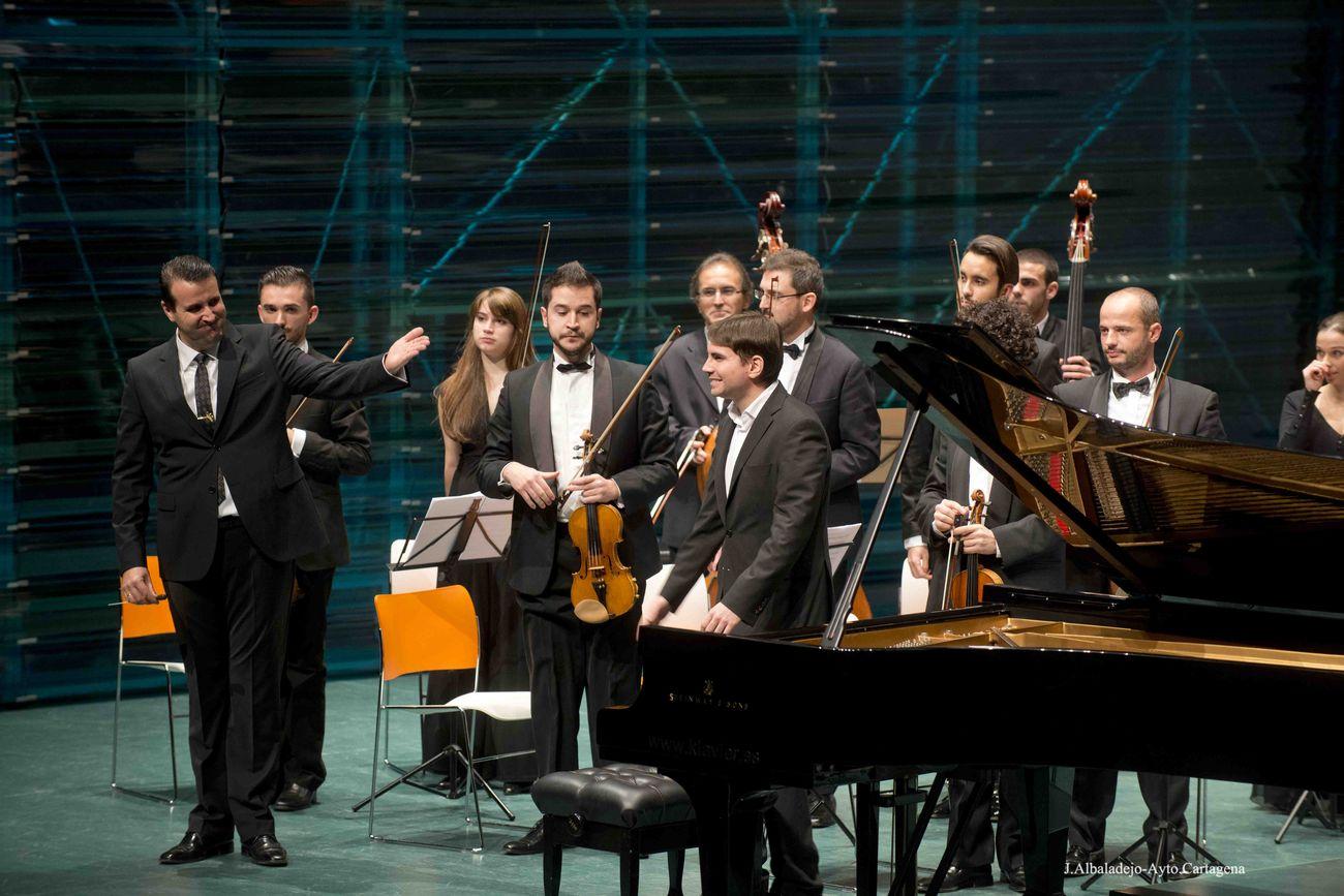 Gabriel Escudero, durante el Concierto extraordinario de Entre Cuerdas y Metales