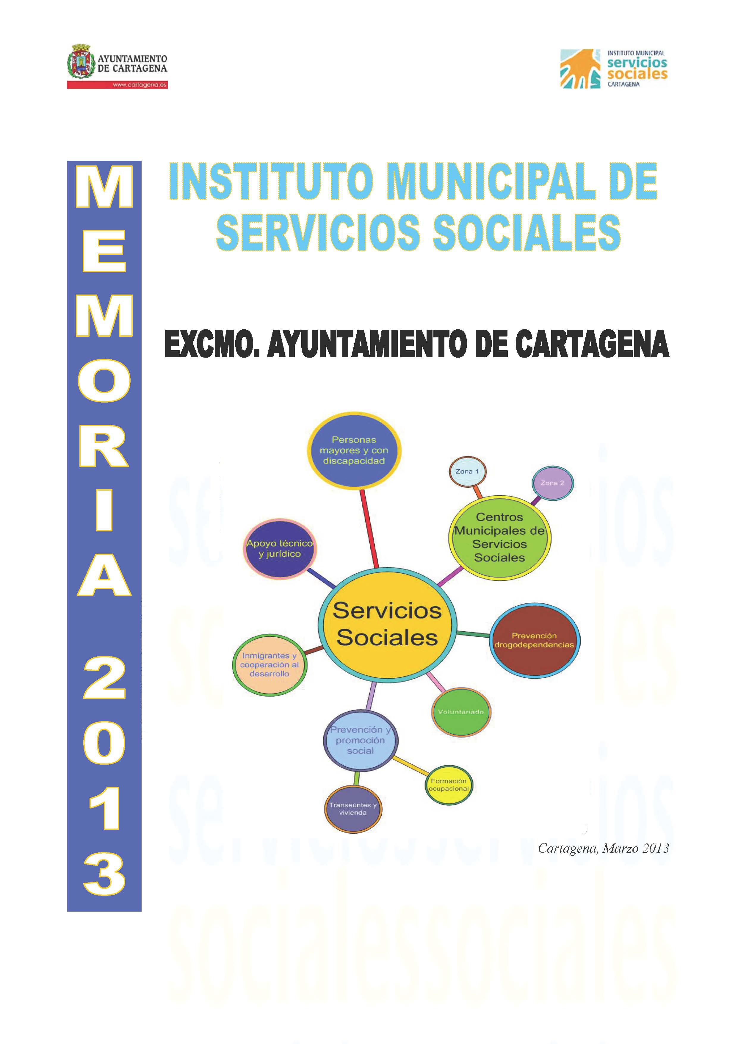 Memoria del Instituto Municipal de Servicios Sociales 2013. Documento PDF - 2,58 MB. Se abre en ventana nueva