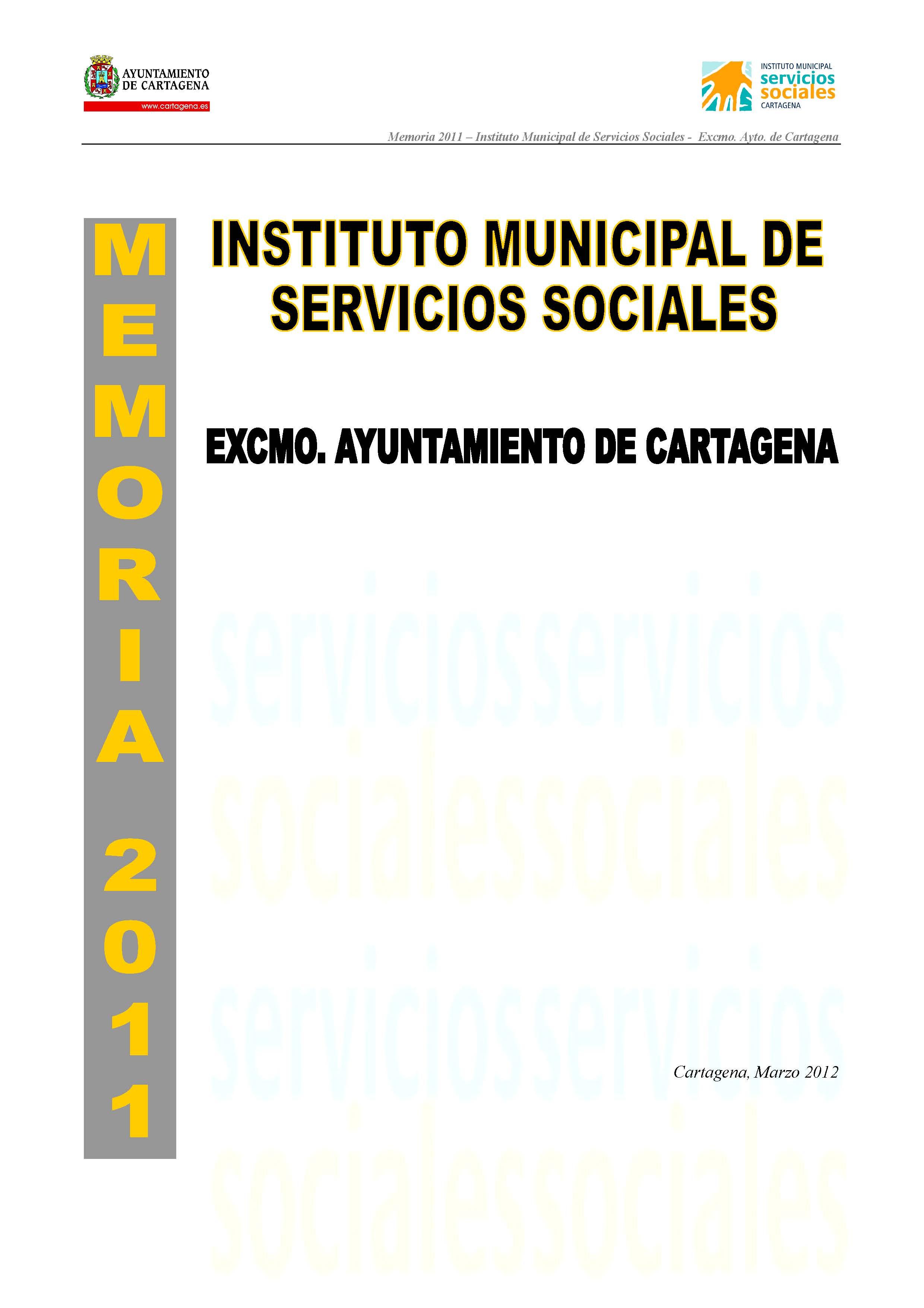 Memoria del Instituto Municipal de Servicios Sociales 2011. Documento PDF - 6,46 MB. Se abre en ventana nueva