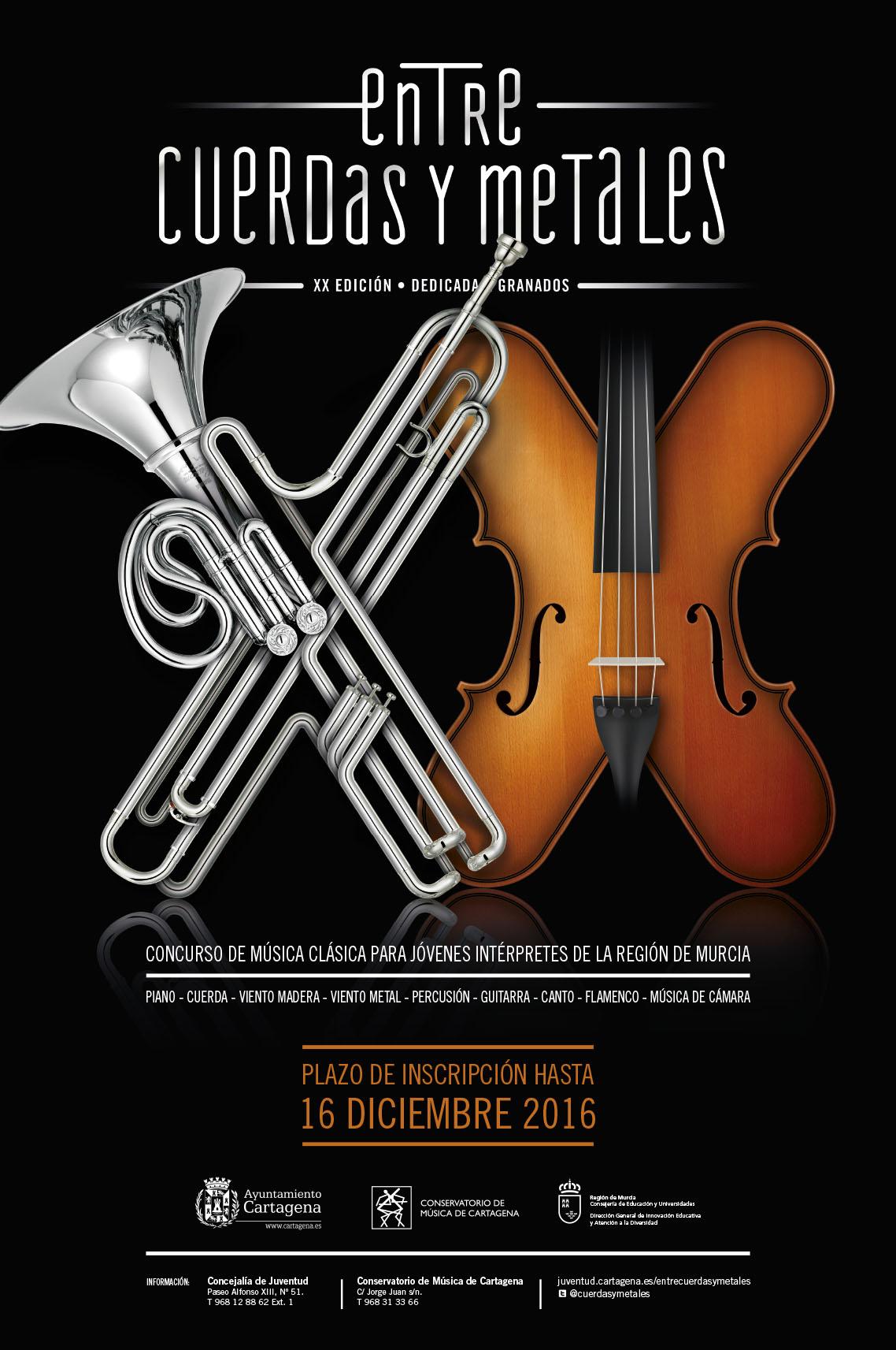 Cartel XX edición de Entre Cuerdas y Metales