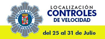 Controles de Velocidad. Del 25 al 31 de Julio de 2016