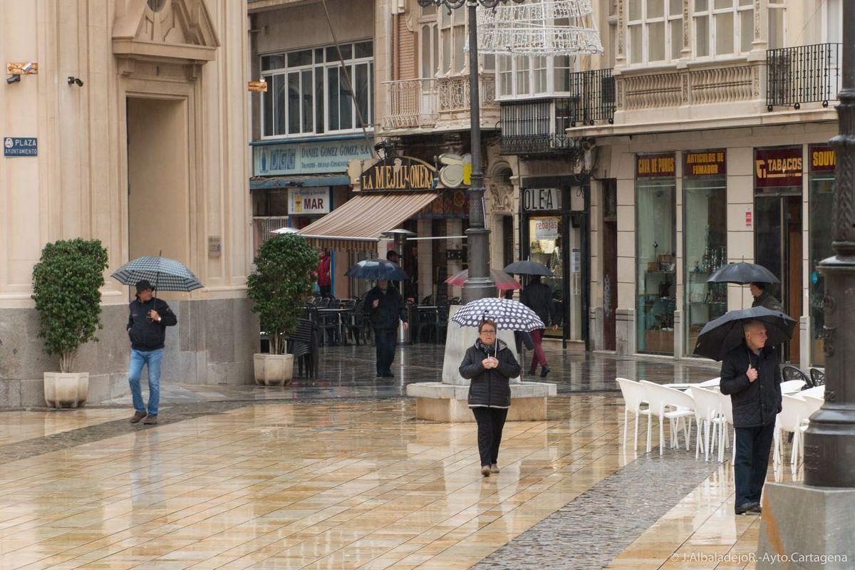 Día de lluvia en Cartagena