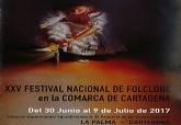 Cartel del XXV Festival Nacional de Folclore de La Palma