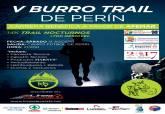 Cartel del V Burro Trail de Perín