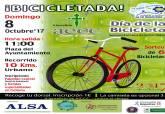 Cartel de la Bicicletada a beneficio de la AECC