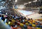 Partido entre el Plásticos Romero Cartagena FS y El Pozo Murcia en el Palacio de Deportes