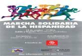 Cartel de la I Marcha Solidaria de la Hispanidad Concejalía de Deportes y UCAM