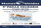 Cartel de la novena Paella Solidaria de Manos Unidas de Cartagena