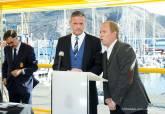 Acto con la selección de eslovaquia y responsables de la uefa en el Batel