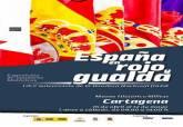 Cartel de la exposición sobre banderas españolas