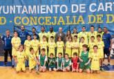 Visita de la alcaldes a la escuelas deportivas Javi Matía del Pabellón