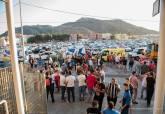La policía local estuvo controlando los accesos del Estadio Cartagonova durante el encuentro del FC Cartagena - Celta B