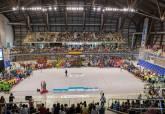 Clausura de la Liga Comarcal de Fútbol Base en el Palacio de Deportes