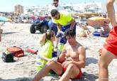 Simulacro de ahogamiento en el Mar Menor