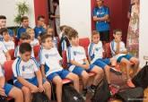 Jóvenes cartageneros que jugarán en el Campeonato de Fútbol Base organizado por el Cartagena FC en su centenario