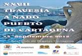 Cartel XXXVII Travesía a nado Puerto de Cartagena