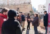Primer día de visitas al Anfiteatro Romano 'Abierto por obras'
