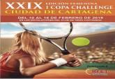 Cartel de la Copa Challenge de Tenis Ciudad de Cartagena, trofeo femenino