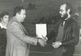 Luis Ruipérez, a la derecha, en 1981, cuando era concejal de Deportes del Ayuntamiento de Cartagena