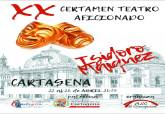 Cartel de la XX del Certamen Nacional de Teatro Isidoro Máiquez