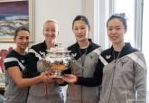 Recepción jugadoras del UCAM Tenis de Mesa