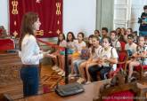 Visita IES San Isidoro y el CEIP San Fulgencio de Presupuestos Participativos al Palacio Consistorial