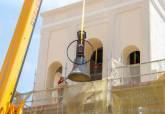 Colocación de campanas en la Iglesia de Santa María de Gracia