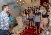 Recepción voluntarios campo trabajo Anfiteatro Romano de Cartagena