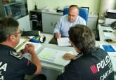 Visita de Juan Pedro Torralba a los cursos de la Espac