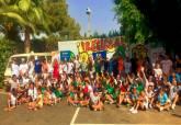 Visita de Noelia Arroyo al campamento urbano de Salesianos